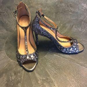 Gorgeous Badgley Mischka Glitter heels